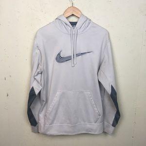 Men's White Nike Sports Hoodie